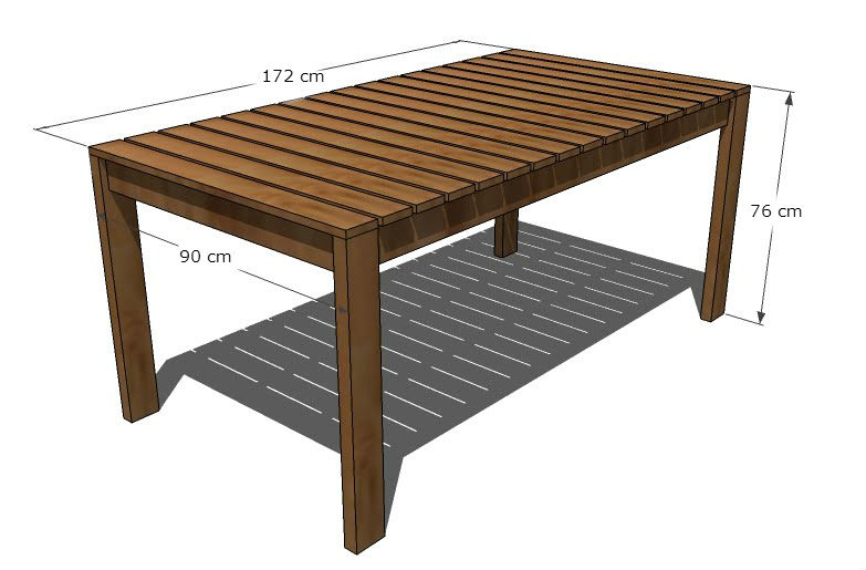 Napravite sami dvorišni stol  Uredite Dom