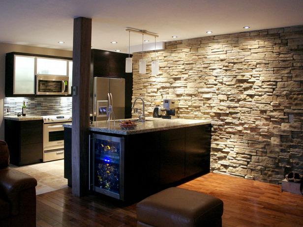 Uređenje kuhinje dekorativnim kamenom  Uredite Dom