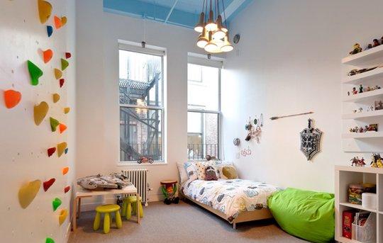 Opremite dječiju sobu zidom za penjanje  Uredite Dom