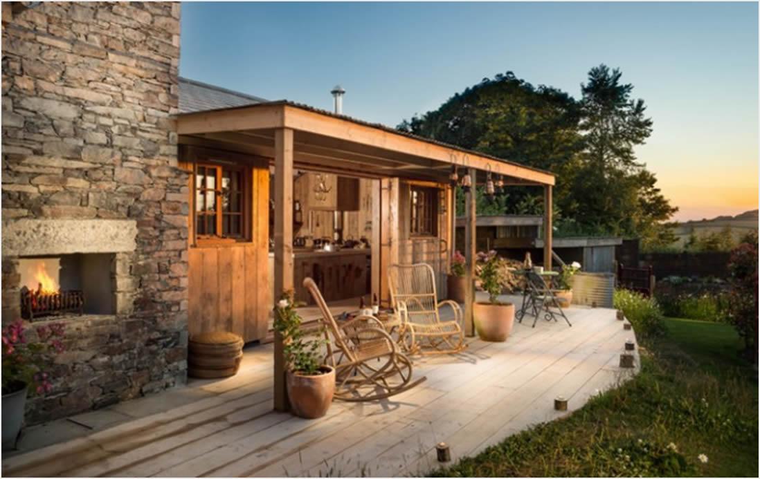 Drvena koliba, spoj prirode i luksuza  Uredite Dom