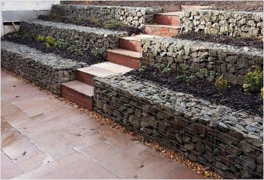 Kako napraviti potporni zid sa gabionima  Uredite Dom