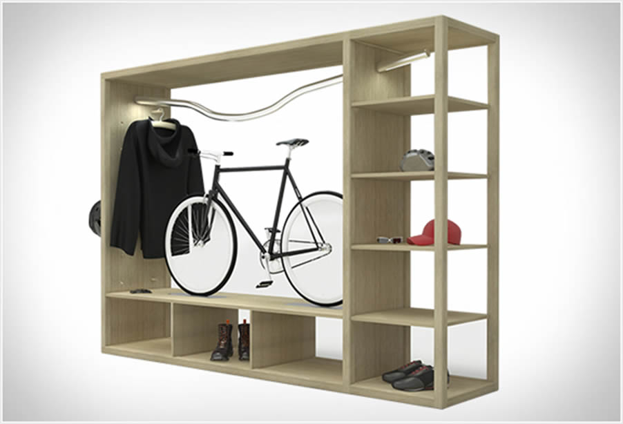 Bike Shelf regal, rješenje za urbane bicikliste  Uredite Dom