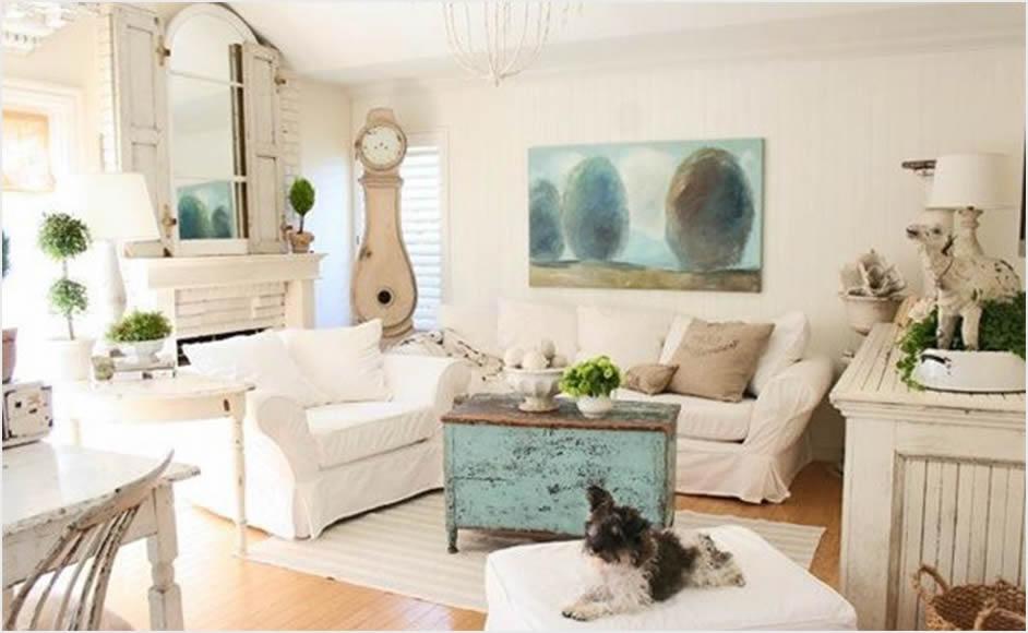 dnevni boravak u shabby chic stilu ideje u slici uredite dom. Black Bedroom Furniture Sets. Home Design Ideas