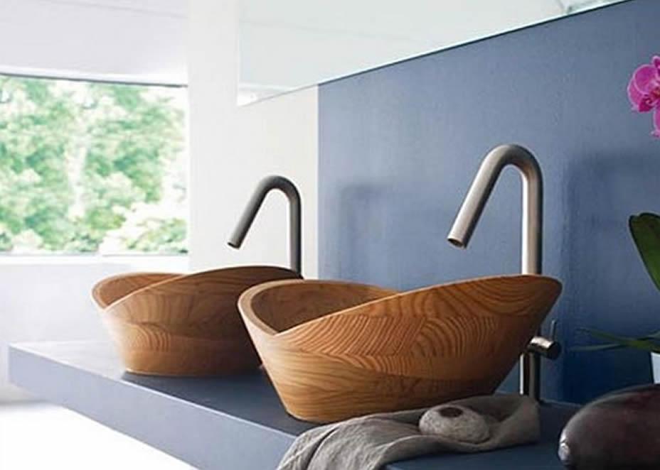 10 Upečatljivih i smjelih umivaonika od prirodnog drveta  Uredite Dom