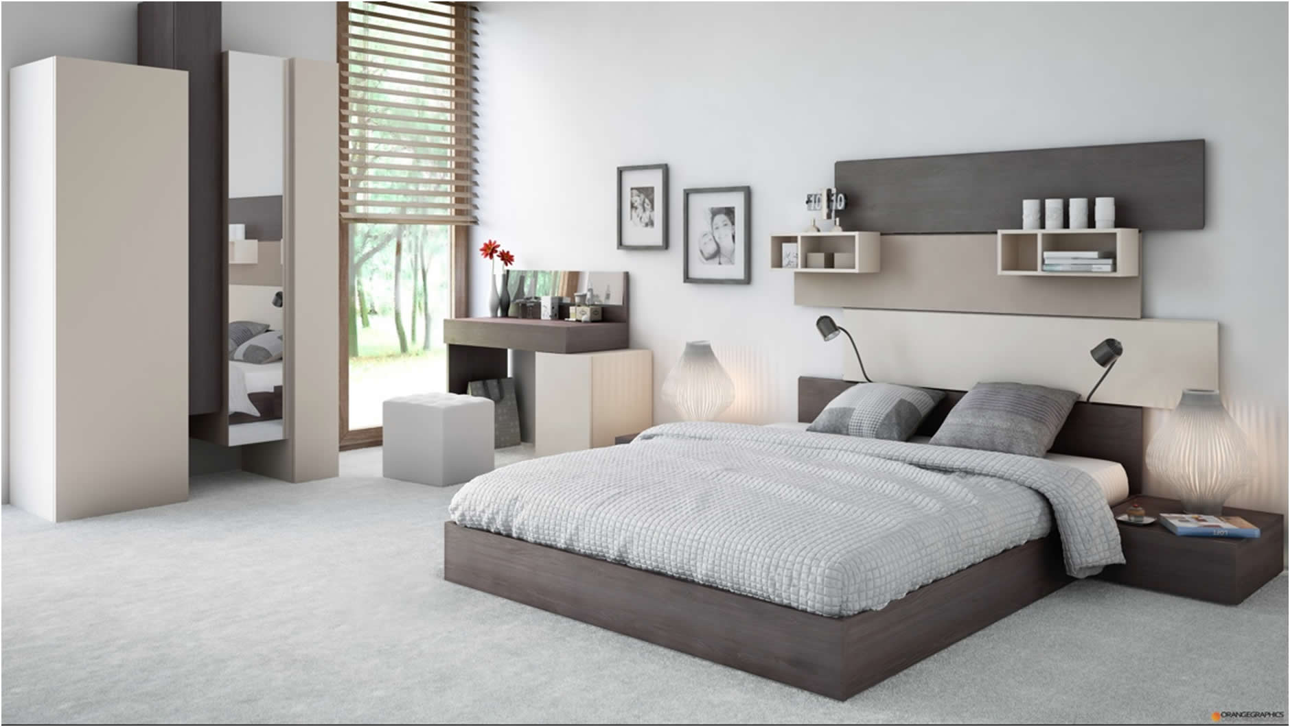 Moderne dizajn ideje za spava e sobe svih veli ina uredite dom - Deco chambre design ...